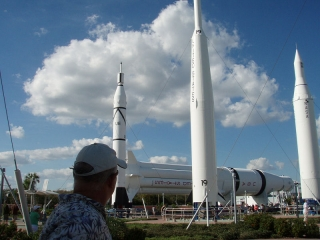 Park at Kennedy Space Center, Dec 2008
