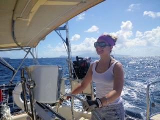 Leah sailing, Grenada