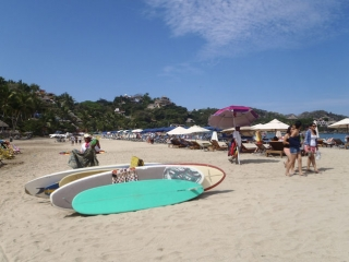 The beach at Sayulita, Mexico2014