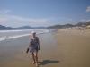 Karen walking Playa Miramar Mexico2014
