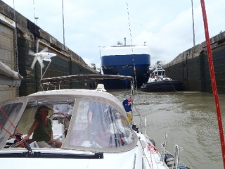 Leaving the Pedro Miguel Lock, Panama