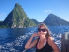 Erica with the Pitons