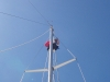 Karen up the mast, Trinidad